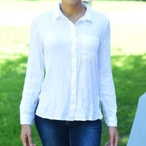White Button Down Long sleeve Relaxed Fit Shirt